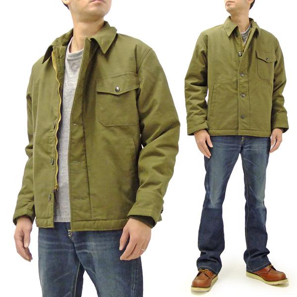 バズリクソンズ BR12291 A-2 デッキジャケット Buzz Rickson メンズ 無地 A2 海軍防寒用JKT オリーブ 新品