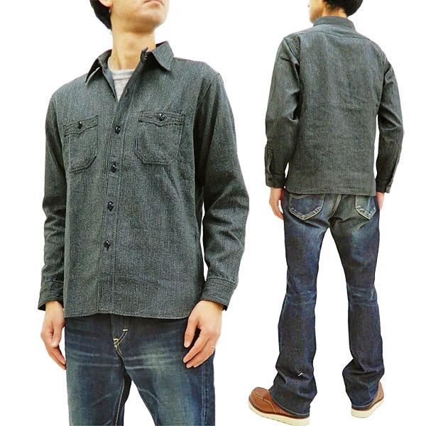 シュガーケーン SC28283 ワークシャツ フィクションロマンス 東洋エンタープライズ メンズ 長袖シャツ ネイビー 新品