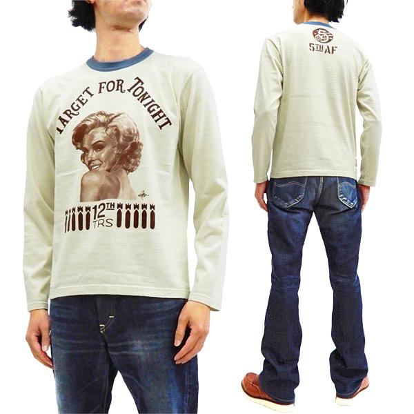 トイズマッコイ 長袖Tシャツ TMC2049 マリリン モンロー TOYS 新品 ロンtee McCOY 人気上昇中 メンズ 訳あり品送料無料 アイボリー