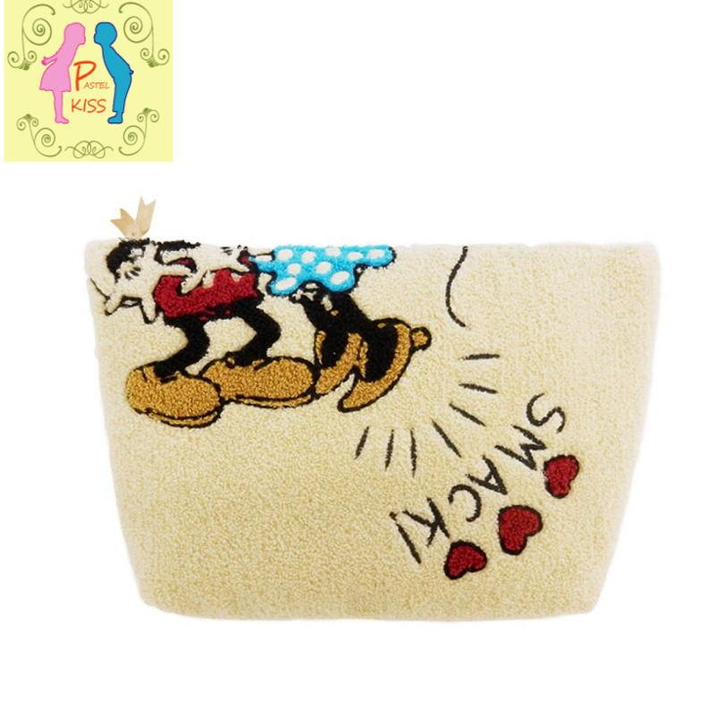 ミッキーミニー サガラ刺繍ビッグポーチ クラッチバッグdhsCtQrx