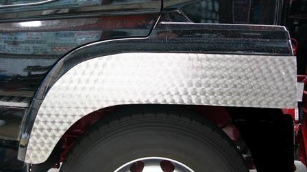 ステンレスフェンダーカバー スーパーグレート(~H29.4)220mm巾(別途送料必要商品)