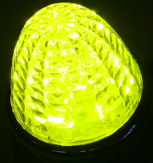 激光 国内送料無料 明るさ150%UP JB LEDクリスタルハイパワーマーカーランプ 12 24V共用 黄 在庫一掃