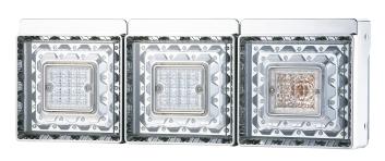 肌触りがいい JB角型LEDテールランプ3連 バックランプ付き 2010~2016年式日野大型、増トン車セット, CHAO チャオ:ace76631 --- risesuper30.in