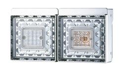 JB角型LEDテールランプ2連 2010~2016年式日野大型、増トン車セット