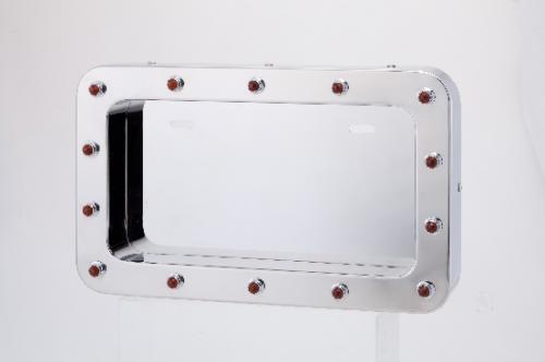 角R LEDパイロットランプ付ナンバー枠 中型