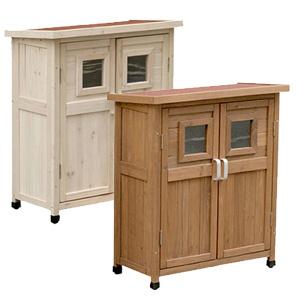 【ベランダ薄型収納庫920 SPG-002】【送料無料】 ベランダ用収納庫 小型収納庫 ベランダ収納庫 物置 木製