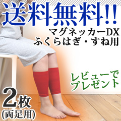 【送料無料】マグネッカーDX ふくらはぎ・すね用 着圧プラス 両足用 磁気治療器