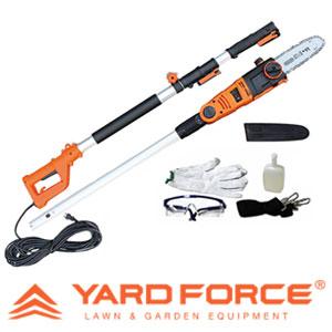 【送料無料】 Yard Force 高枝切り電動チェーンソーV [コード長さ20m 手袋・ゴーグル・肩ベルト付き]
