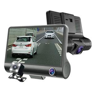 【送料無料】3画面同時記録ドライブレコーダー 駐車監視モード付 03817 [前方カメラ・後方カメラ・車内カメラの3カメラ同時録画 ドライブレコーダー]