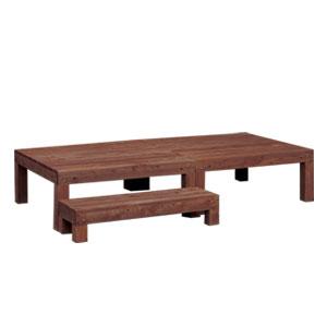 【送料無料】 NEW天然木ウッドデッキ3点セット 03638 [ちょっとしたスペースに置ける木製 縁台 ガーデンデッキ]