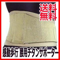 腰椎ベルト 感動歩行 腰用チタンサポーターの通販【送料無料】