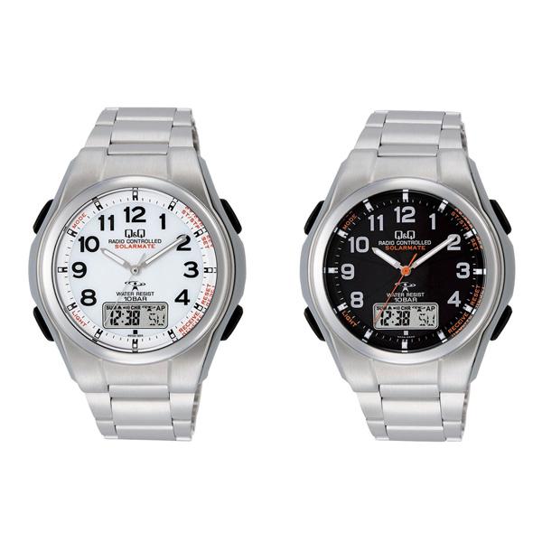 【即出荷】【送料無料・保証付・専用ケース付】 腕時計 メンズ ソーラー 電波 【ソーラー電源機能搭載電波腕時計 MD02】 シチズン q&q ソーラーメイト 電波腕時計