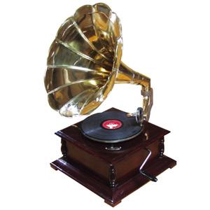 レコードプレーヤー 【送料無料】【蓄音機クラシック グラモフォーン 1976002】 蓄音器 グラモホーン レコードプレイヤー アンティーク レトロ オブジェ