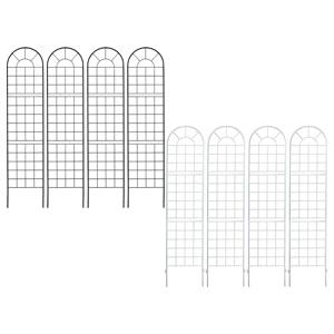 アイアンフェンス 【送料無料】【クラシックフェンス220 ハイタイプ 4枚組 YB016H-4P】 ガーデニングフェンス スチールフェンス ブラック 黒 ガーデンフェンス