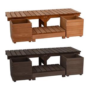 【送料無料】【ユニット縁台ベンチ hiyori ステップセット 幅155 奥行55 DE-15555STP】 ガーデンベンチ ガーデニングベンチ ウッドベンチ ウッドチェア 木製ベンチ 木製チェア 屋外用