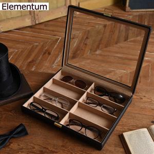 5月中旬入荷予定/メガネ収納ケース 【Elementum メガネケース 8本用 240-452】 [送料無料] メガネコレクションケース 8本収納 眼鏡ケース ディスプレイケース 見せる収納 サングラス めがね
