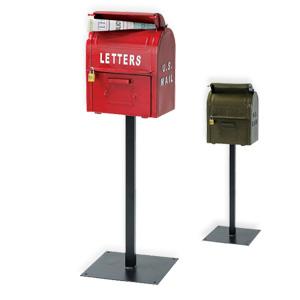 かっこいい スタンドポスト 【セトクラフト U.S.MAIL BOX SI-2855 259t】 [送料無料] アメリカン クラシック メールボックス スタンド型 郵便ポスト かっこいい 郵便受け レトロ