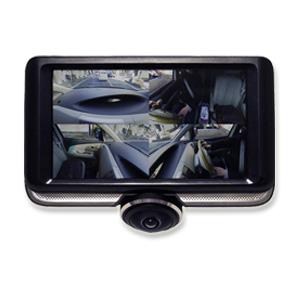 全方位 ドラレコ 【リアカメラ(100万画素)付 360度カメラ 4.5インチドライブレコーダ MW-DR360R1 1414623】 [送料無料・代引料無料] ドライブレコーダー 前後左右 車内