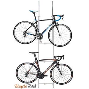 \ページ限定・カードケース付/ ツッパリ自転車ラック SB-01(WH) 1023392 【送料無料】[サイクルラック 屋内 自転車ラック 2台 自転車スタンド ロードバイク 突っ張りハンガー]