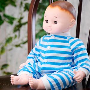 ドールセラピー 【癒しの赤ちゃん人形 のんちゃん 目元ぱちぱちタイプ】 [送料無料] 介護用 人形 赤ちゃん人形 大きめ リハビリ お世話 人形遊び あかちゃん人形 着せ替え