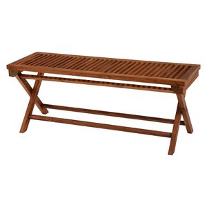 チークガーデン フォールディングベンチ RB-1598TK ■送料無料■ [ベランダチェア ガーデンチェア ベンチ ウッドベンチ 木製ベンチ 腰掛 2人用]