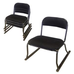 スタッキング高座椅子 4個組 STM-ハニカム 1265 ■送料無料■ [法事用椅子 和座敷チェア 積み重ね収納 高座椅子 お座敷チェア]