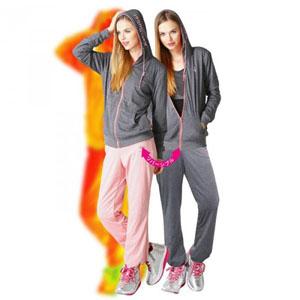 ◆送料無料◆ ケイトルーバー サウナスウェット ウエストバーン レディス チャコールグレー×ローズピンク