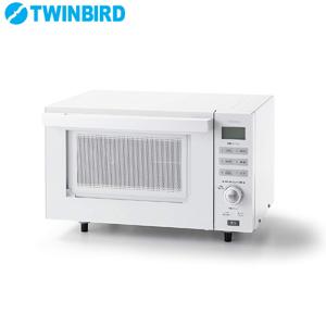 \ページ限定・カードケース付/ ツインバード センサー付フラットオーブンレンジ DR-E852W ■送料無料・保証付■