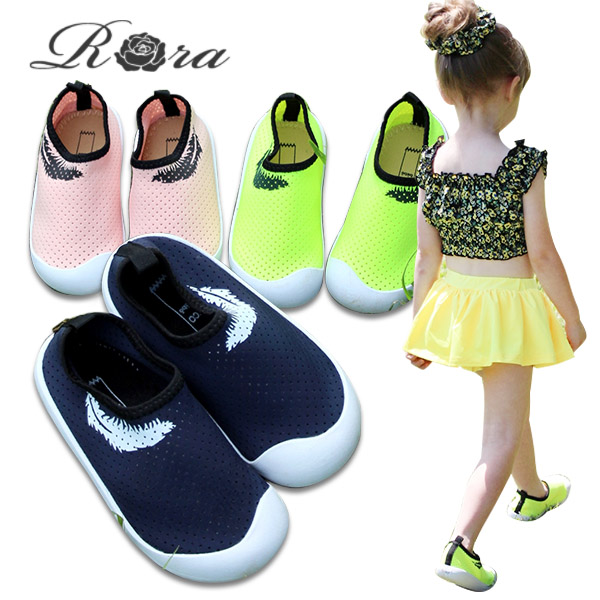 0a5eba06fe796 Child dark blue navy yellow pink of the children's clothes Rora クーアクアシューズ  (3color) 15cm 16cm 17cm 17cm 18cm 19cm kids aqua shoes ...