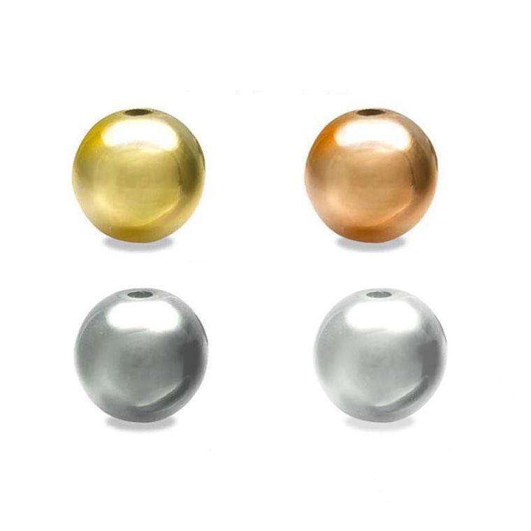 4mm 100個入 全4色 メタルビーズ まん丸 市場 円形 日本製 ローズゴールド ゆうパケット対応 シルバー 金メッキ 銀メッキ ロジウムカラー ゴールド