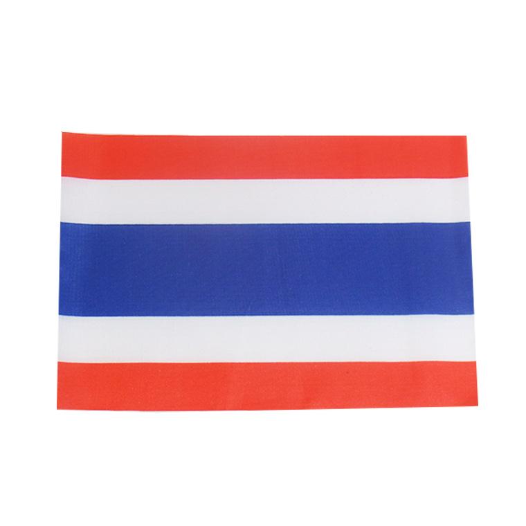 世界の国旗 約21×14cm タ行国 :タイ 手旗 期間限定特別価格 小さめ ゆうパケット対応 手持ち フラッグ ミニ国旗 応援グッズ 定番