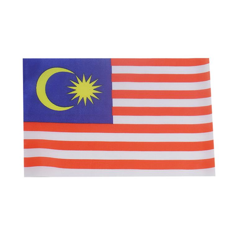 世界の国旗 約21×14cm マ行国 :マレーシア 手旗 小さめ ミニ国旗 ゆうパケット対応 評判 フラッグ 今だけ限定15%OFFクーポン発行中 手持ち 応援グッズ