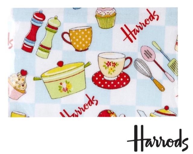 哈罗哈罗德茶和烤面包花的旅行袋
