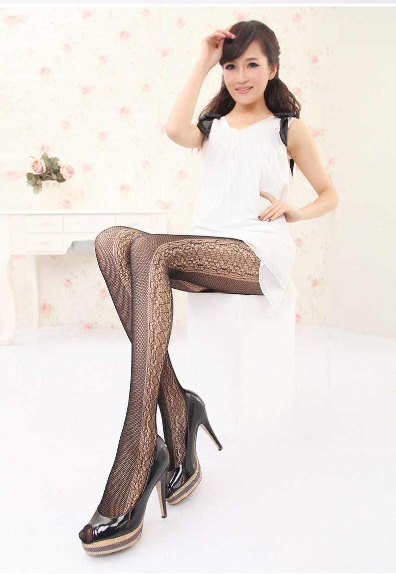 Leg side handle ♪ beautiful series sexy beauty legs stockings ( sexy sexy  design NET tights Black Black pattern pantyhose color tights Neeraj )