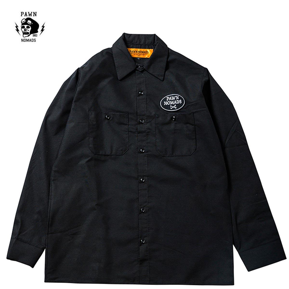 ☆送料無料☆PAWN CREW L/S SHIRT ブラック