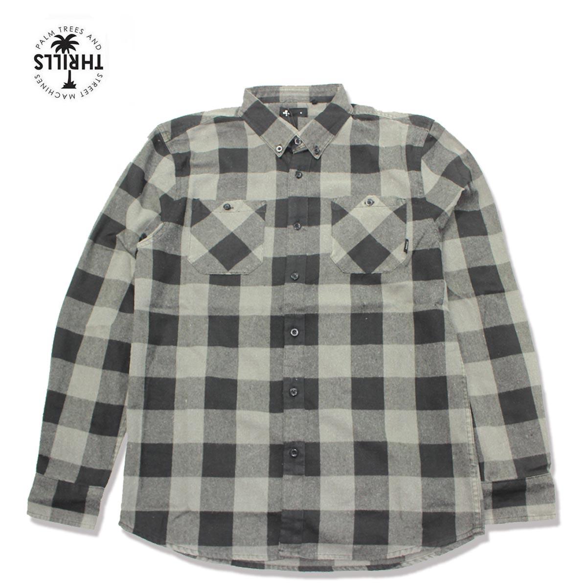 ☆送料無料☆THRILLS(スリルズ) OVERDYED ネルシャツ