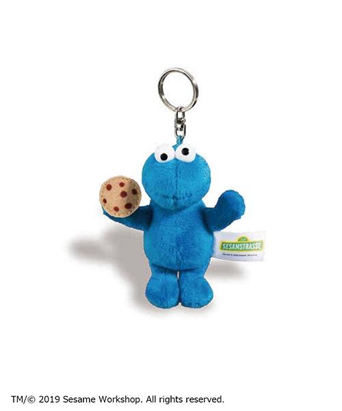 キャラクター 動物 どうぶつ 小物 かわいい 市販 売店 ニキ ぬいぐるみ BB NICI セサミストリートクッキーモンスター10cm キーリング