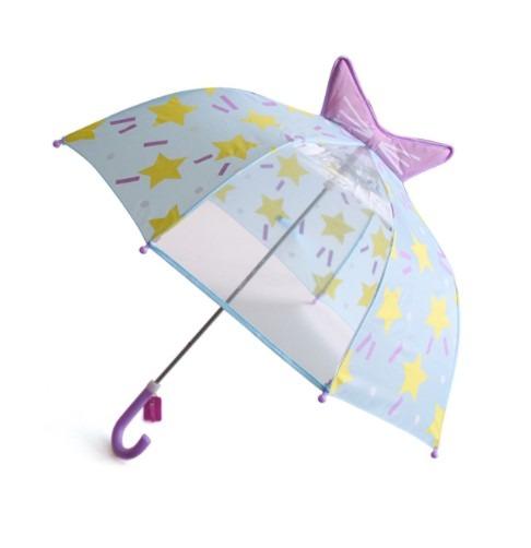 (訳ありセール 格安) 日本正規品 キッズ レイングッズ 雨具 かわいい ブルーリボン ビューアンブレラ KI047359