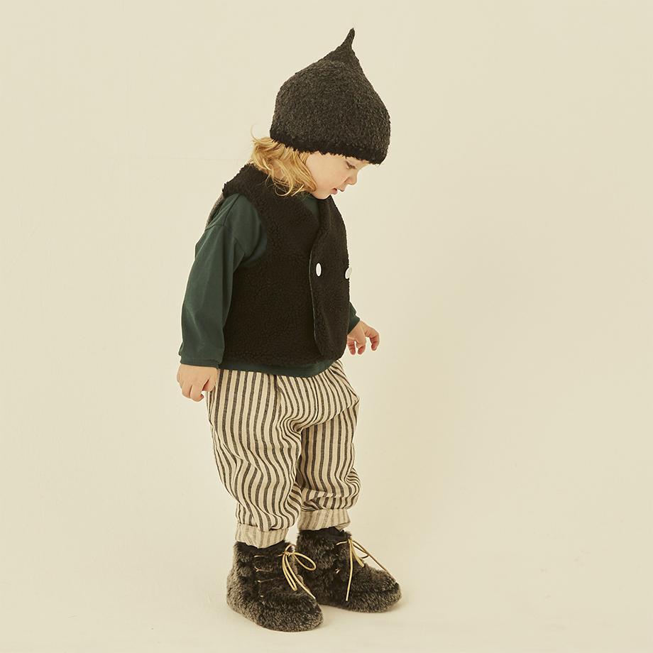 pygmy cap charcoal ピグミーキャップ 正規品 eLfinFolk エルフィンフォルク 帽子 ニット 帽 とんがり もこもこ ベビー キッズ こども