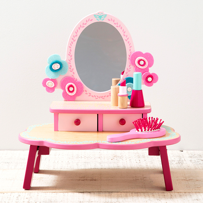 the latest 3857a 119ff Child Christmas present of the birthday present fashion 4 years old 5 years  old 6 years old woman for the Flora dressing table cosmetics dresser make  ...