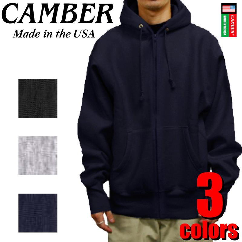 CAMBER キャンバー CAMB-F0231 12ozフルジップパーカー カジュアル ストリート