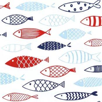 ペーパーナプキン40枚までメール便可 パーティー 好評 プチギフト デコパージュに最適 1パック 品質保証 20枚入りもあります ドイツ HOME FASHION 可愛いペーパーナプキン デコパージュ お子様 魚 Fish 子供におすすめ バラ売り 1枚 ☆イラスト風 フィッシュ☆ Tour on