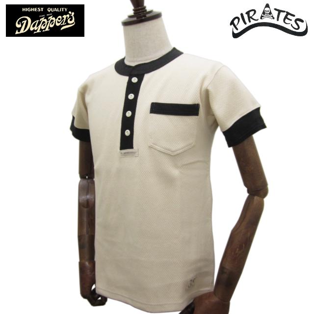 DAPPER'S ダッパーズ ヘンリーネック 半袖 メッシュ Tシャツ LOT1172