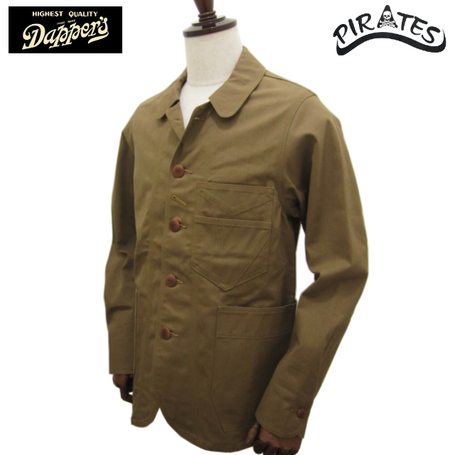 DAPPER'S ダッパーズ 硫化染めコットンチノ ラウンドネック ワークジャケット LOT1135