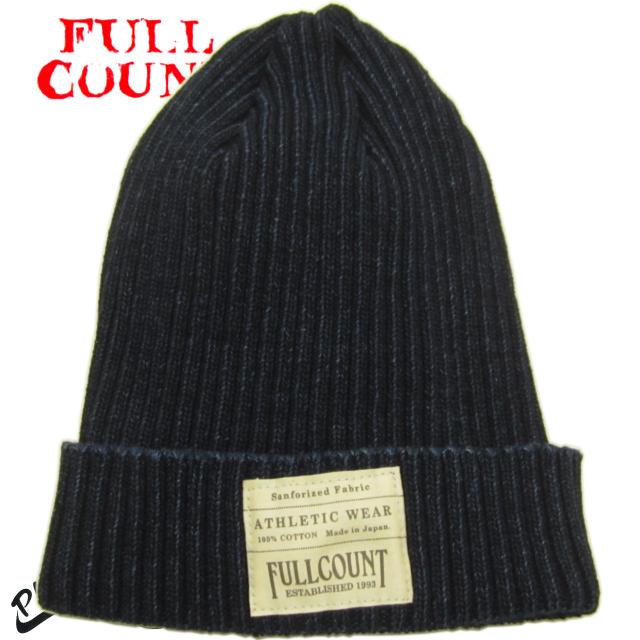 FULLCOUNT Indigo Cotton Ribbed Watch Cap 大幅にプライスダウン オールシーズンタイプ インディゴ 超特価SALE開催 フルカウント 6817 コットン リブワッチキャップ