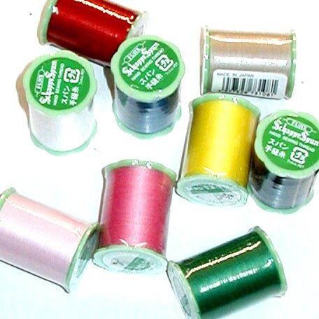 定番の縫い糸 シャッペスパン手縫い糸 手芸用品 材料 です 手縫い糸 OK メーカー再生品 ゆうパケット メール便 50m巻き シャッペスパン 基本色 セール品