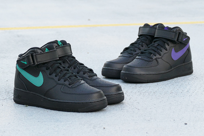 71aa0eafb5a7 PISTACCHIO  NIKE AIR FORCE 1 MID 07 black court purple (black   coat ...