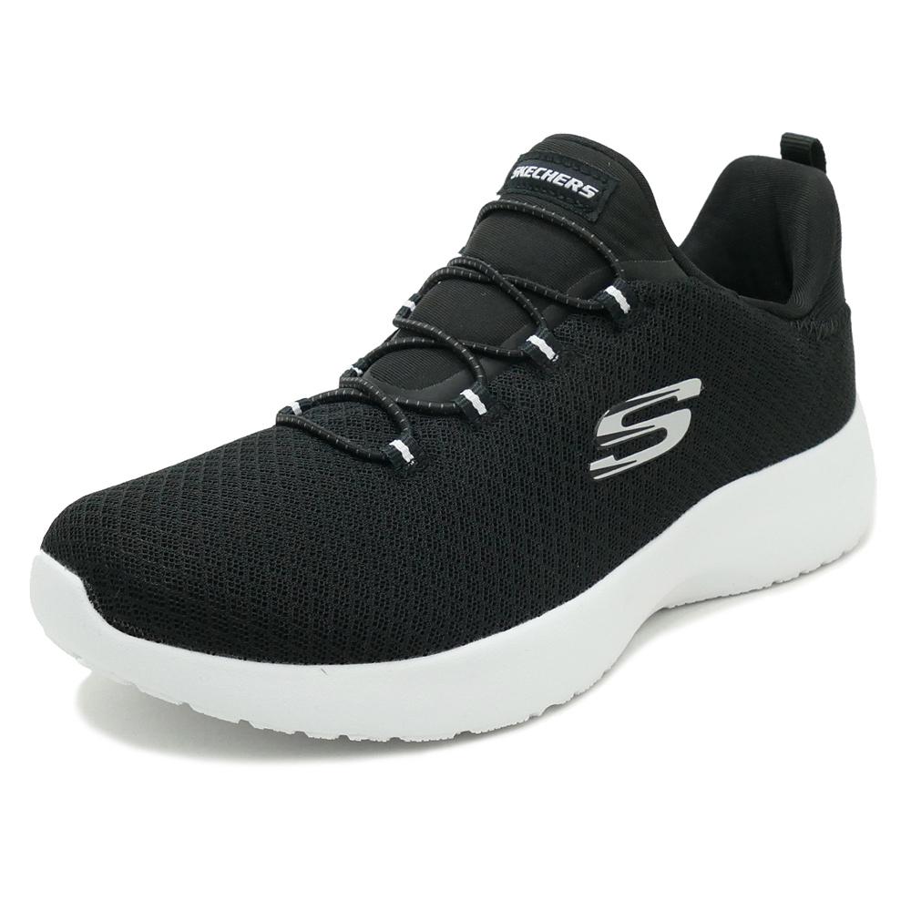 SKECHERS DYNAMIGHT black mesh/white trim (black mesh / white trim) 12119-BKW  18SS