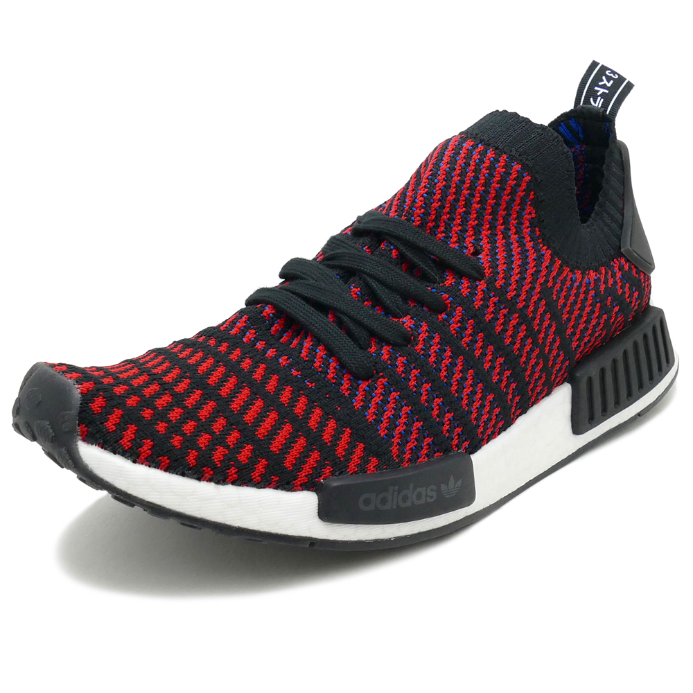 ADIDAS Originals NMD R1 STLT PK core black red-sld blue (core black   red    blue) CQ2385 18SS e7ccfca86