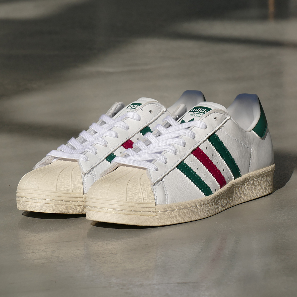 size 40 6c884 6324a ... italy adidas originals superstar 80s ftwr white collegiate green  mystery ruby running white college eight green